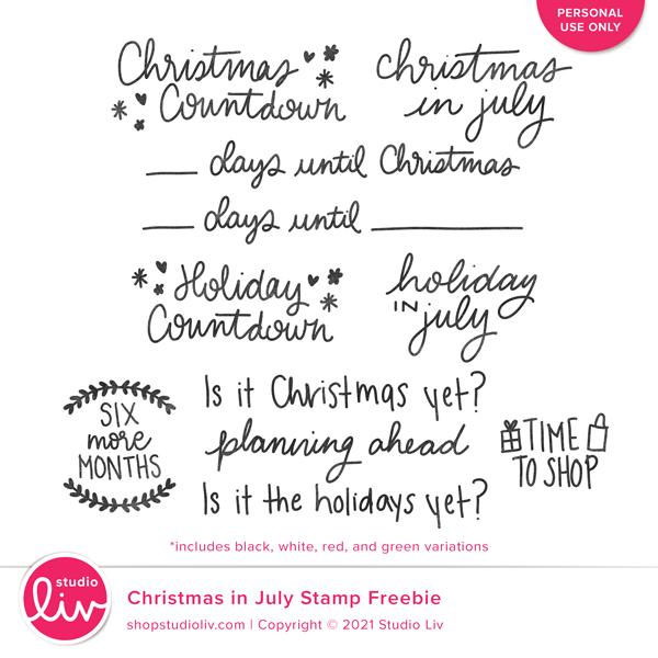 Christmas in July Stamp Freebie preview