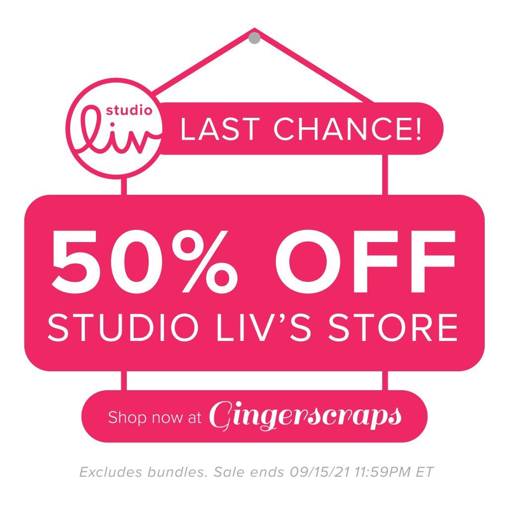 Studio Liv. Last chance! 50% off Studio Liv's store. Shop now at GingerScraps. Excludes bundles. Sale ends 09/15/21 at 11:59PM ET.