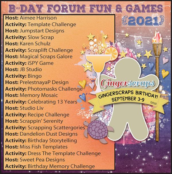 B-Day Forum Fun & Games {2021}