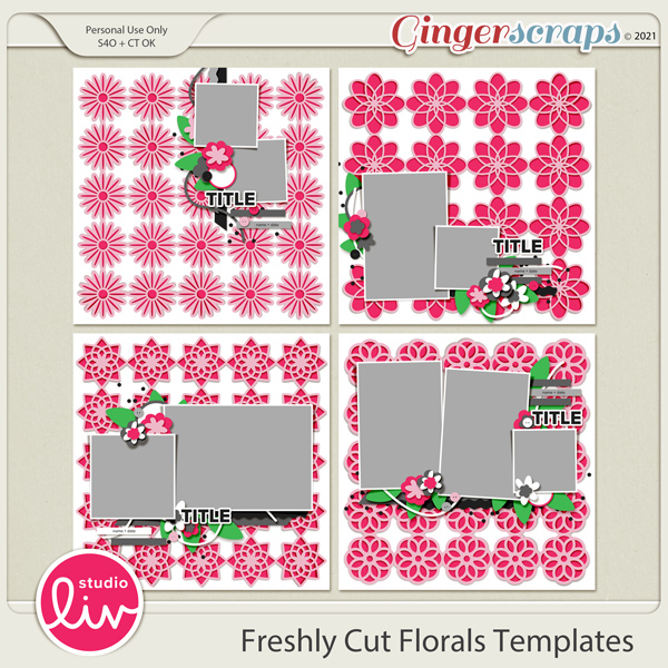 Freshly Cut Florals Templates preview
