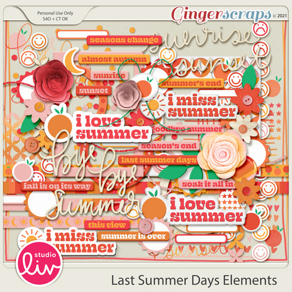 Last Summer Days Elements preview