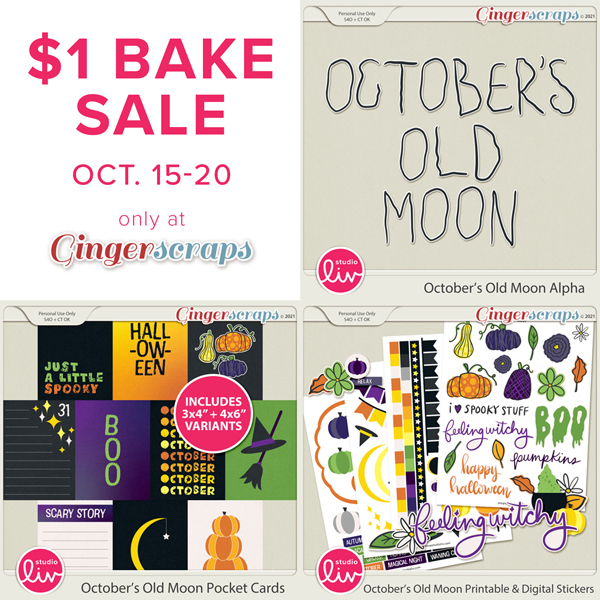 $1 Bake Sale Oct. 15-20 only at GingerScraps