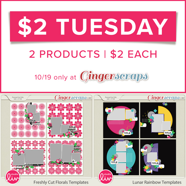 $2 Tuesday 2 Products | $2 Each only at GingerScraps