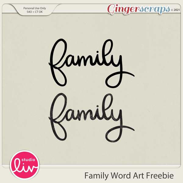 Family Word Art Freebie preview
