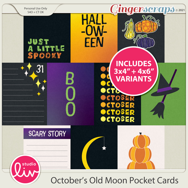 October's Old Moon Pocket Cards preview