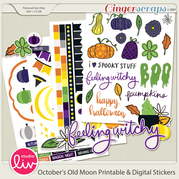 October's Old Moon Stickers preview