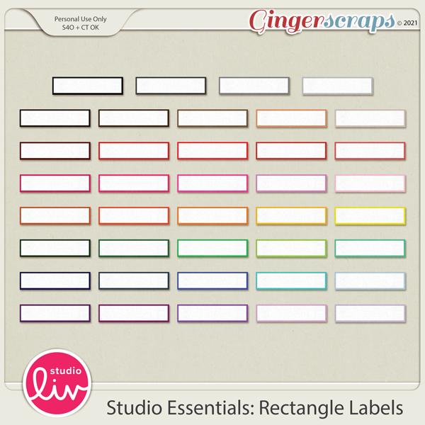 Studio Essentials: Rectangle Labels preview
