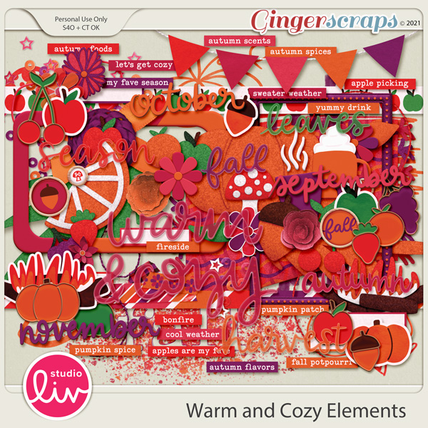 Warm and Cozy Elements preview