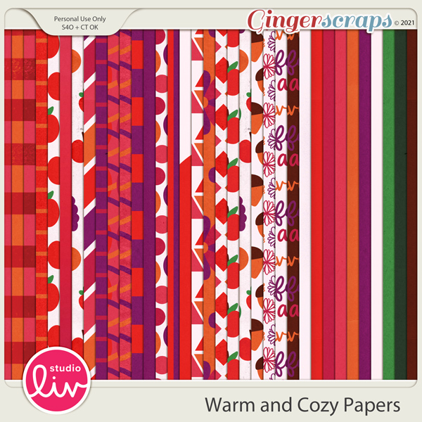 Warm and Cozy Papers preview