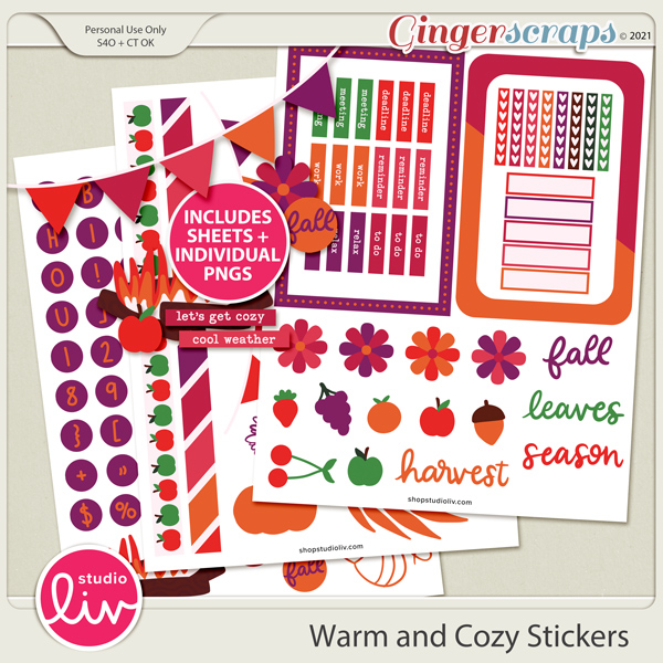 Warm and Cozy Stickers preview